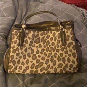 Coach leopard print purse
